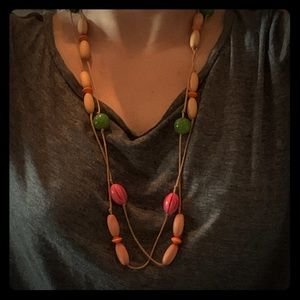 Urban Outfitters Wooden Bead Necklace